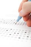 Ucznia test (egzamin) obraz stock