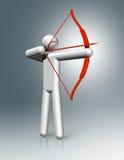 Łuczniczy 3D symbol, Olimpijscy sporty Fotografia Royalty Free