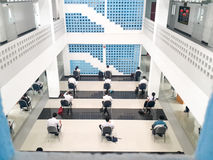 Ucznie biorą egzamin Zdjęcia Stock