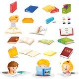 Ucznie i ich szkolne dostawy royalty ilustracja