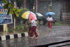 Ucznie wystawiający padać Zdjęcie Stock