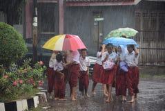 Ucznie wystawiający padać Obraz Royalty Free