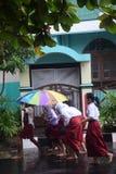 Ucznie wystawiający padać Obraz Stock