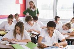 uczniowie szkoły średniej klasy Zdjęcie Royalty Free