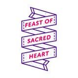 Uczta Święty Kierowy powitanie emblemat Zdjęcie Stock