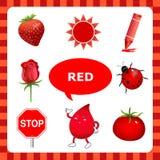 Uczyć się czerwonego kolor royalty ilustracja