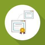 Uczyć się graficznego projekt, wektorowa ilustracja Zdjęcie Stock