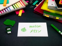 Uczyć się Nowe Językowe Robi Oryginalne Błyskowe karty; Japończyk Obrazy Royalty Free