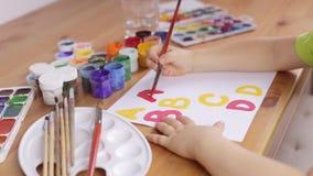 Uczyć się pisać listach na białym prześcieradle papier zbiory