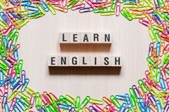 Uczy si? Eanglish s?owa poj?cie fotografia stock