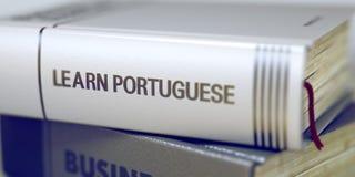 Uczy się portugalczyka - Książkowy tytuł 3d ilustracji