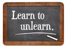 Uczy się unlearn Zdjęcie Stock