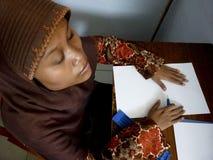 Uczy się Braille Fotografia Royalty Free