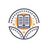 Uczy? si? nagroda szyldowego symbolu edukacji wektorowego znaka royalty ilustracja