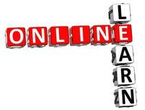 Uczy się Online Crossword Fotografia Royalty Free