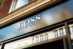 Uczy sklep Hugo Boss Fotografia Stock