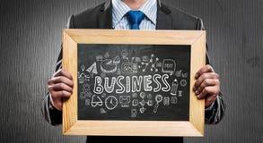 Uczymy wam prawego biznes Mieszani środki Obraz Stock
