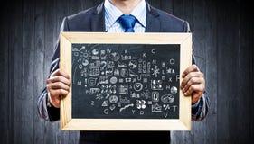 Uczymy wam prawego biznes Mieszani środki Zdjęcia Stock