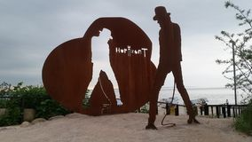 Uda Lindenberg Horizont statuy timendorfer pasemko Germany Zdjęcie Stock
