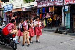 udaipur的学校学生 库存图片