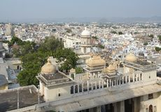 Udaipur. Aerial city view of Udaipur, a city located in Rajasthan, India stock images