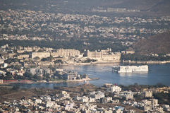 Udaipur City Aerial View Royalty Free Stock Photography