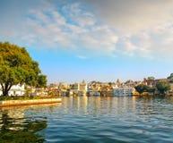 Udaipur City and  Lake Pichola  , Rajasthan, India Royalty Free Stock Images