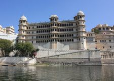 Udaipur city palace. In India Stock Image