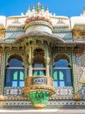 Udaipur City Palace Balcony. In Rajasthan, India Royalty Free Stock Image