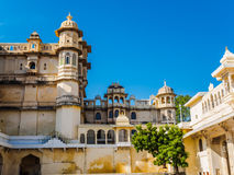 Udaipur City Palace on the Banks of Lake Pichola Royalty Free Stock Images