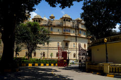 Udaipur City Palace. Built in 17 to 18 century, built by the granite and marble, which contains many palaces, museums and gardens Stock Image