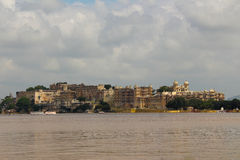 Udaipur City Palace. Built in 17 to 18 century, built by the granite and marble, which contains many palaces, museums and gardens Stock Images