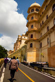 Udaipur City Palace. Built in 17 to 18 century, built by the granite and marble, which contains many palaces, museums and gardens Royalty Free Stock Photo