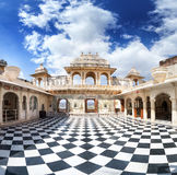 Udaipur City Palace with chess floor Stock Photography