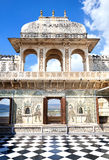 Udaipur City Palace with chess floor Royalty Free Stock Photos