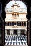 Udaipur City Palace with chess floor Royalty Free Stock Images