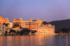 Udaipur City Palace in the evening Stock Image