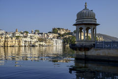 Udaipur city palace. From lake Pichola Royalty Free Stock Photography