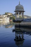 Udaipur city palace. From lake Pichola Stock Images