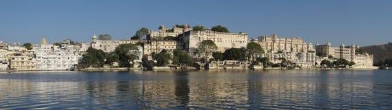 Udaipur city palace. From lake Pichola Stock Photo
