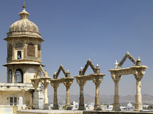 Udaipur City Palace - Rajasthan - India. Archways at the City Palace in Udaipur in Rajasthan in western India Stock Photo