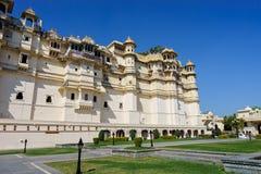 Udaipur city palace rajasthan, india. Facade of Udaipur`s city palace. rajasthan, india Stock Photography