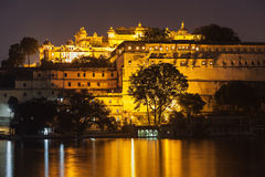 Udaipur City Palace. In Rajasthan is one of the major tourist attractions in India Royalty Free Stock Photography