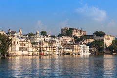 Udaipur City Palace. In Rajasthan is one of the major tourist attractions in India Royalty Free Stock Photo