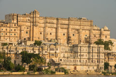 Udaipur city palace during sunset Royalty Free Stock Image