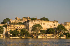 Udaipur city palace during sunset Royalty Free Stock Images