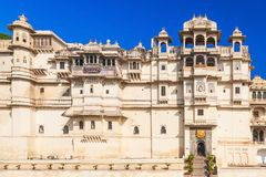 Udaipur City Palace. In Rajasthan is one of the major tourist attractions in India Stock Image