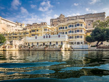 Udaipur City Palace. View of Udaipur City Palace from Lake Pichola Royalty Free Stock Photography