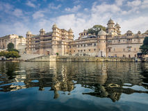 Udaipur City Palace. View of Udaipur City Palace from Lake Pichola Royalty Free Stock Images