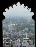 Udaipur from the City Palace. A view of the city taken from the City Palace Stock Images